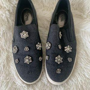 Embellished Michael Kors Slip On Sneakers